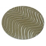 DJ Turntable Slipmats Tan Velvet Swirl Pair New