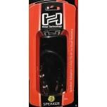 Hosa Cable BNP-116BK, Adaptor,1/4 in TS to Dual Banana