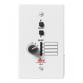 DBX ZC-8 Programmable Volume And Source Select Wall Plate For ZonePro Processors