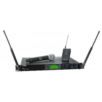 SHURE UR124S+/SM86-L3 Handheld Wireless Microphone System w/Cascade New