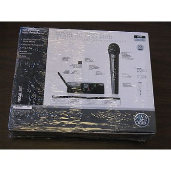 AKG WMS40MINIVOC Wireless Microphone Set w/ Microphone 30hrs on 1 AA Battery