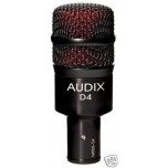 AUDIX D4 Dynamic Hypercardioid Drum Microphone New