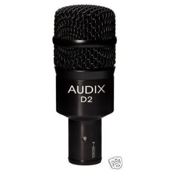 AUDIX D2 Dynamic Hypercardioid Drum Microphone New