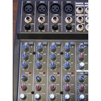 STAGG SMIX 4M4S D Multi-Channel Stereo Mixer w/FX New