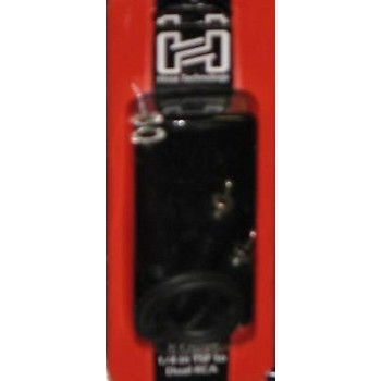 Hosa YPR-131, Y Cable, 1/4 in TSF to Dual RCA