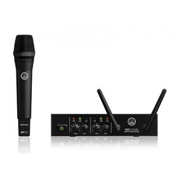 AKG DMS70D 2 Channel Digital Wireless Set w/ 1 x D5 Microphones Included