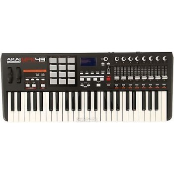 AKAI MPK49 49-key semi weighted USB/MIDI controller with 12 MPC pads