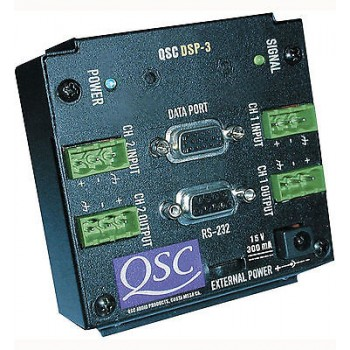 QSC DSP3 2 Channel digital signal processor with euro style in/out connectors.