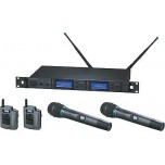 Audio Technica AEW 5416aC Duel System with Pairs of Body Pack and Handheld Trans