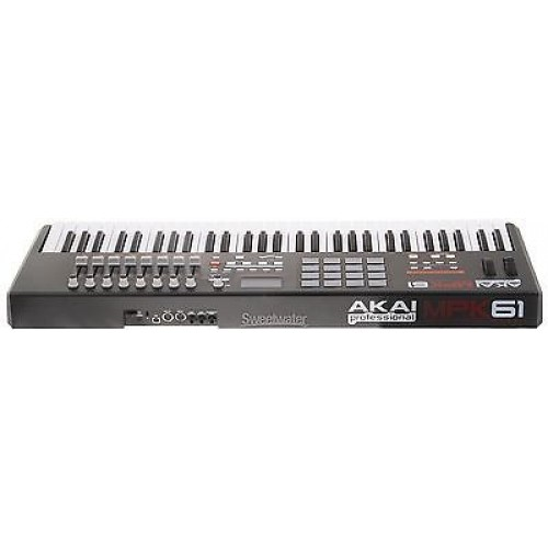 akai mpk61 61 key semi weighted usb midi keyboard controller with 16 mpc pads. Black Bedroom Furniture Sets. Home Design Ideas