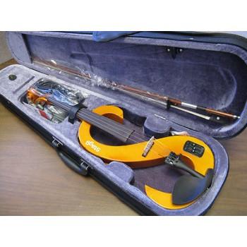 STAGG EVN4/4-H Electric Violin Headphones, Case Honey Finish  New