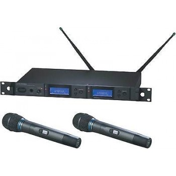 Audio Technica AEW-5255AC Dual Handheld Condenser Microphone System New