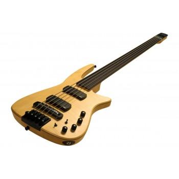 NS DESIGN CR5-BG-NAS Radius Headless Fretted Bass Guitar Natural Satin
