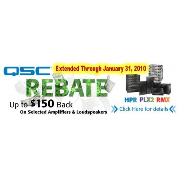 RECEIVE UP TO $150 BY MAIL WITH A QSC PREPAID REWARD CARD ON PLX2, RMX & RMXa SERIES